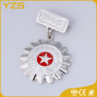 factory Star Performer Medal with your own logo and text