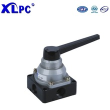 Black Plastic Handle Pneumatic Part Hand-Switching Valve 3 Position 4 Way