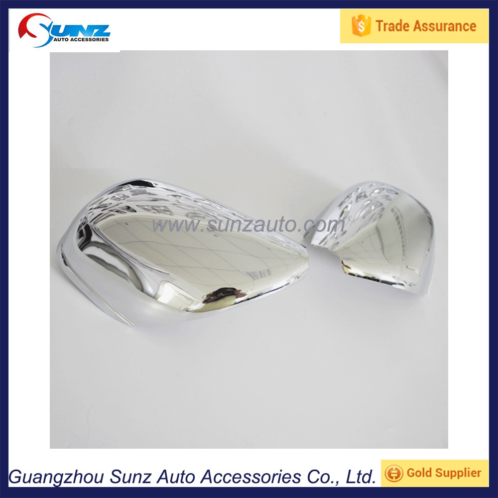 For Toyota Prado Land Cruiser FJ120 2003 SUV ABS chrome Side Door Mirror Cover trim fit Toyota Prado fj120 2004 2005 2006 2007