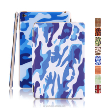 Multicolor Soft Leopard Camouflage Wood UK PU Leather Case Smart Magnetic Flip Cover for iPad Mini 4