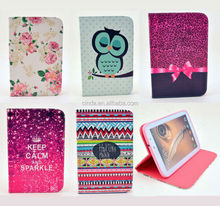 "Cute Flower Cartoon Wallet Flip Case Cover For Samsung Galaxy Tab 3 10.1"" P5200"