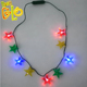 Hottest products on the market christmas decoration LED light up star necklace flashing necklace