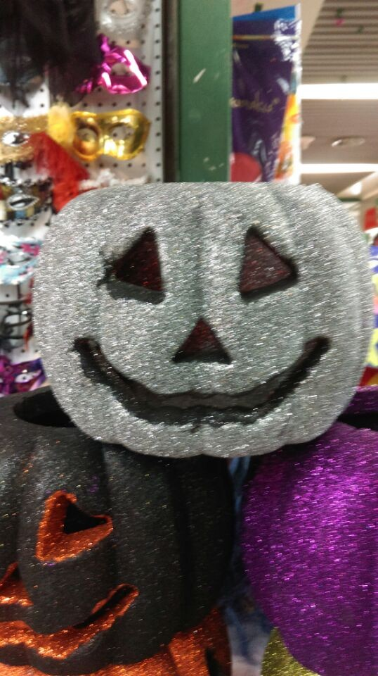Hot sale new design white foam craft pumpkins with LED light
