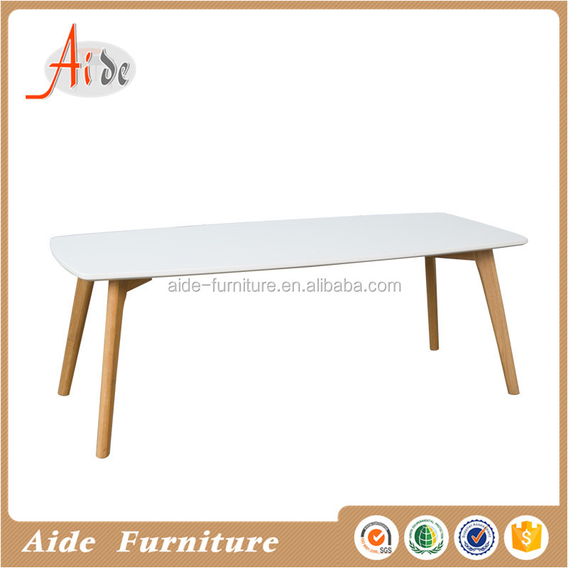 simple design rectangle white scandinavian coffee table