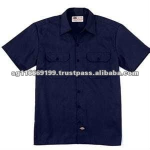 Comfortable Dark Blue Cotton Work Clothes