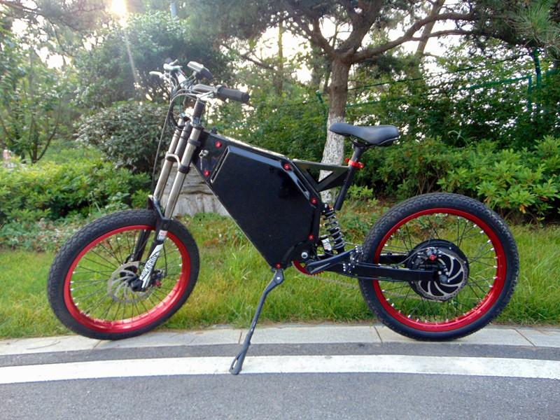 Enduro Ebike Full Suspension 72v 5000w Electric Bike