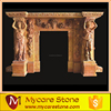 good quality hand carved brown marble fireplace