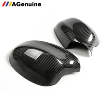 UV polished stick-on real carbon fiber side rearview mirror caps door mirrors covers for BMW 3 series E90 LCI