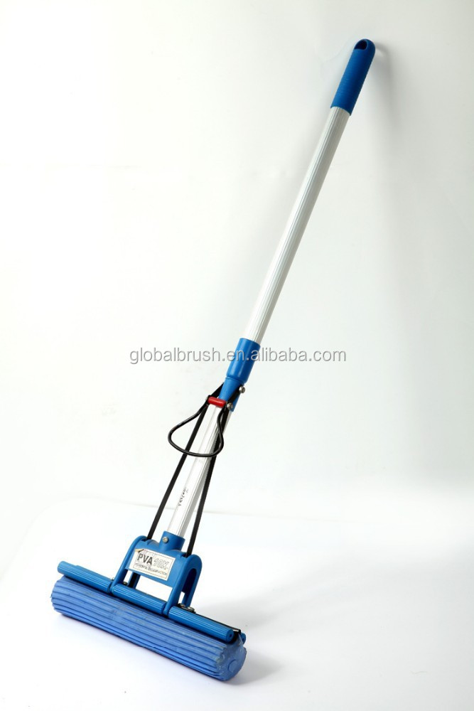 HQ525 aluminum handle hard blue new magic mop russia PVA roller mop