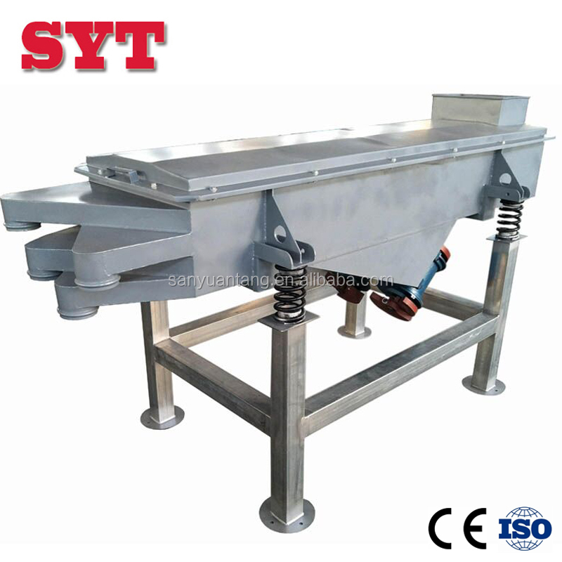 linear vibrating screen sieve machine for tea and grain beans