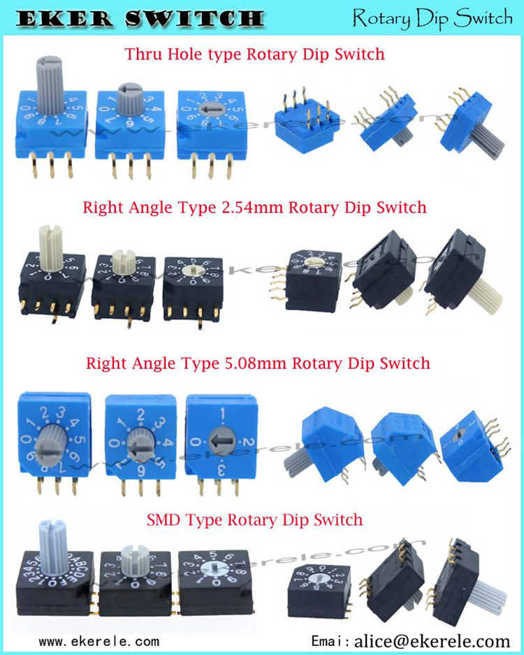 4 Pos SMD Side Actuated Piano Type Dip Switches With Up And Down Operation