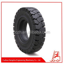 Forklift Solid Rubber Tyre, Standard or Clip Type, Various Sizes and Color