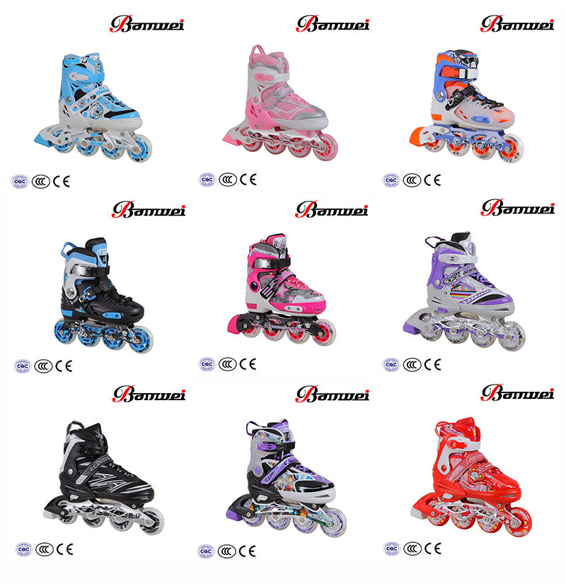 Well sale zhejiang supplier new design BW-907 inline skate shoes