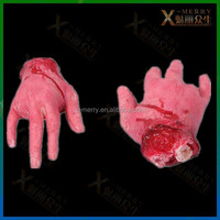 X-MERRY Bloody Out Bones Palms And Feet Halloween Prop/Toy Haunted House Party Decor Latex Prop To Set The Scary Environment