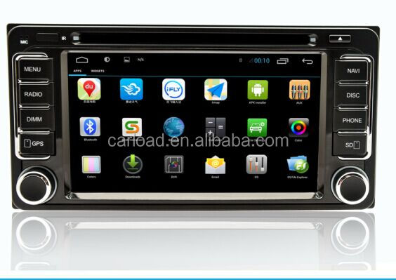 6.2 toyota universal android quad core 2 din touch screen toyota car dvd gps