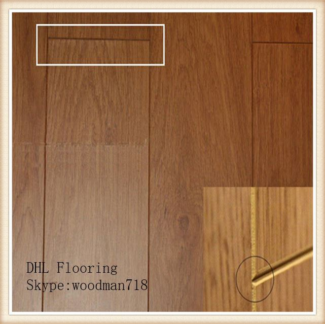 189 mm Width Luxury Brushed Grey Oak Wood Laminate Flooring