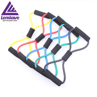 2016 lenwave fitness resistance band yoga elastic building tool exercise pull rope