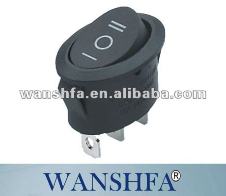 3p 10a 250v illuminated Rocker switch on on