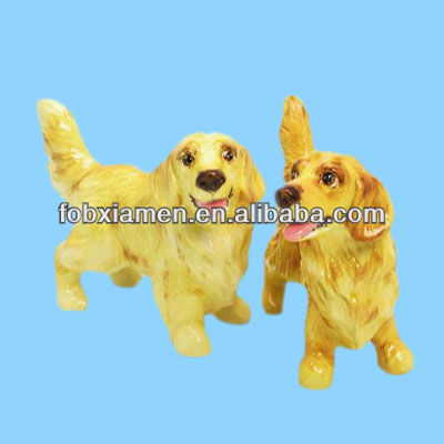 Popular golden retriever dog figurine