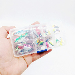 36pcs/set Ice Fishing Lure set Spoon Lure Spinner Bait Ice Jigging