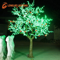 decorative outdoor led tree lighting with apple for gardens