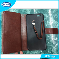 Good Quality Custom Book Style Design Flip Leather Wallet Case for Iphone 6
