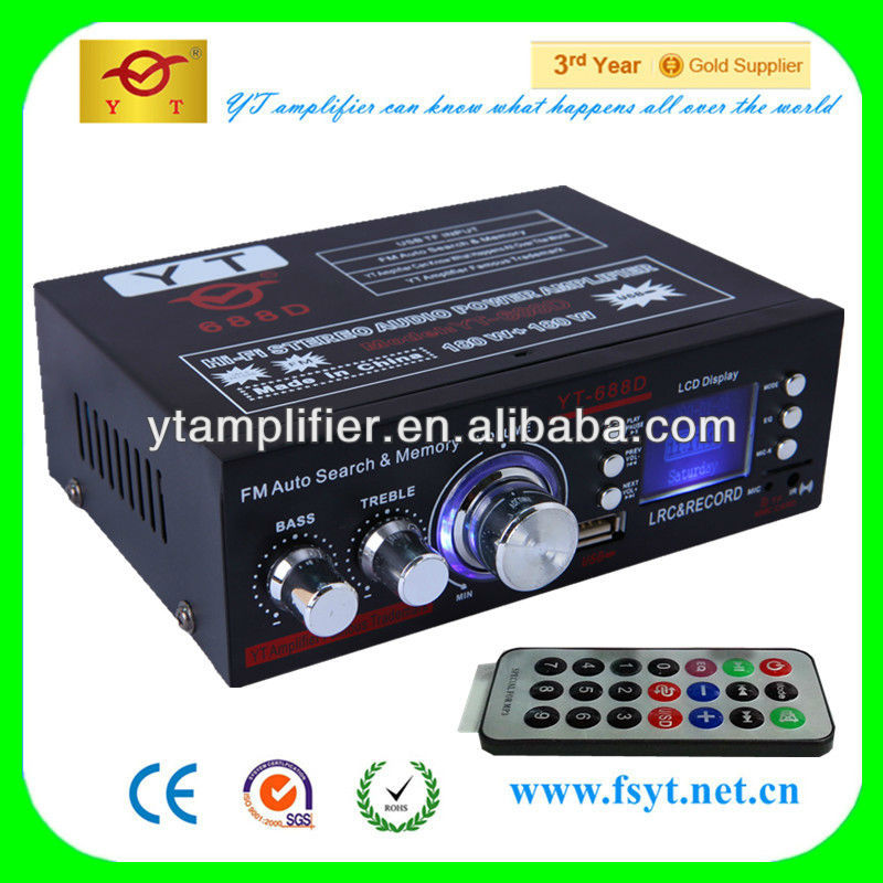 Auto small amplifier company YT-688D with LCD display/USB/SD