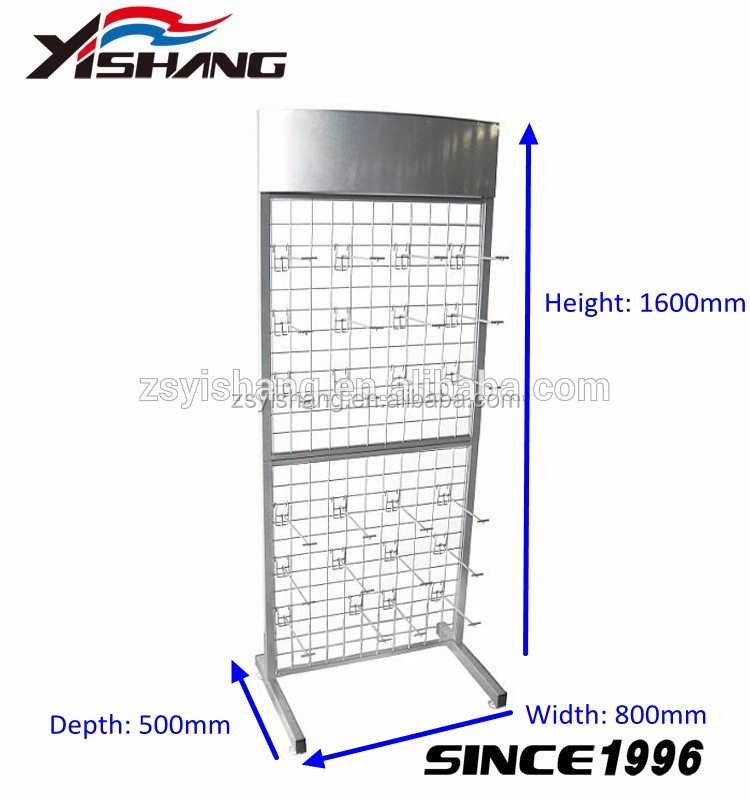 Factory custom hardware accessory display metal triangle pegboard rotate stand