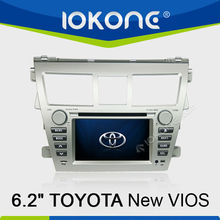 "6.2"" Touch Screen TOYOTA New Vios In Dash Car Multimedia System With GPS Navigation"