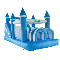 Free Shipping By DHL Inflatable Slide And Obstacle Bouncy House Juegos Inflables