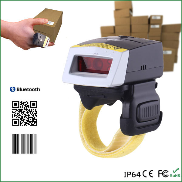 Bluetooth Android/Ios/Win Finger Ring Style 2D / QR Barcode Scanner For Warehouse / Logistics Application