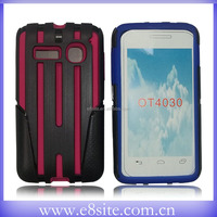 Celular Phone Hybrid Case Cover For Alcatel OT4030 POP C3