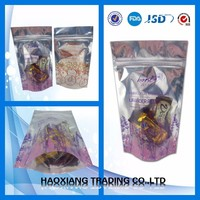 2017 top sell Standing up pouch Food packing bag/chocolate packing/eco friendly chocolate bar packaging