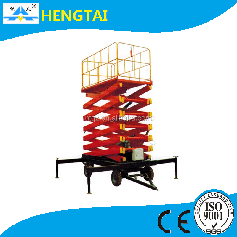 Powerful scissor lift, electric hydraulic lift platform