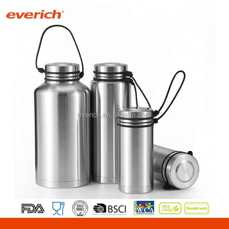 Alibaba best sellers Everich stainless steel big thermos flask for camping