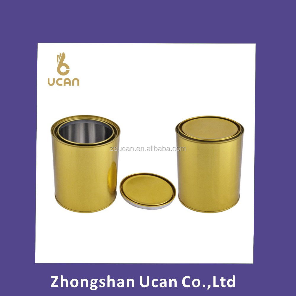 Gold Lacquered Tin can for Paint/ Solvent/ Expoy/ Thinner/ Glue