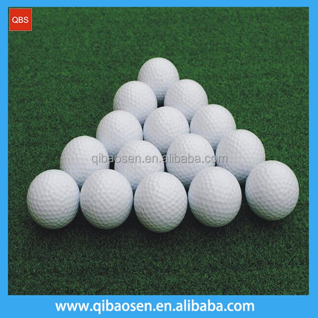 Good quality white Bulk Golf range balls with custom logo welcome, golfballs for training and practice