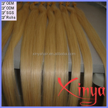 Direct Hair Factory Wholesale #613 color russian straight 28 inch u tip human hair extensions