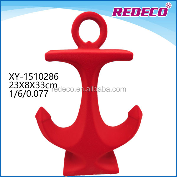 Handmade oem resin decorative custom boat anchor craft for wholesale