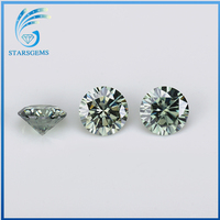 high purity round diamond cut lab grown moissanite