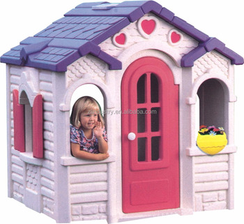 New design brightlook plastic outdoor kids playhouse