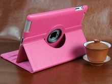2014 Fashion PU leather 360c rotatable smart case for iPad 2/3/4 retail and wholesale selling
