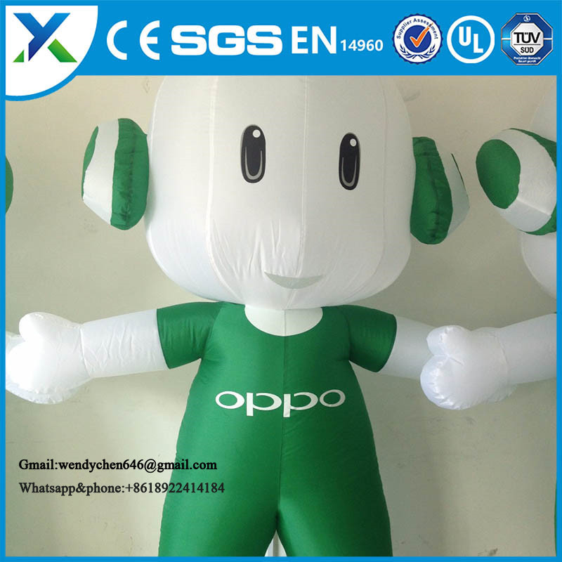 Factory direct outdoor display commercial inflatable cartoon characters for advertising OPPO