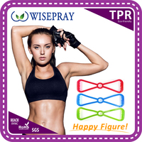 Fitness ab body shaper door gym elastic tube resistance band