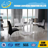 Latest Model A2093K00-M3 glass top metal base dining table