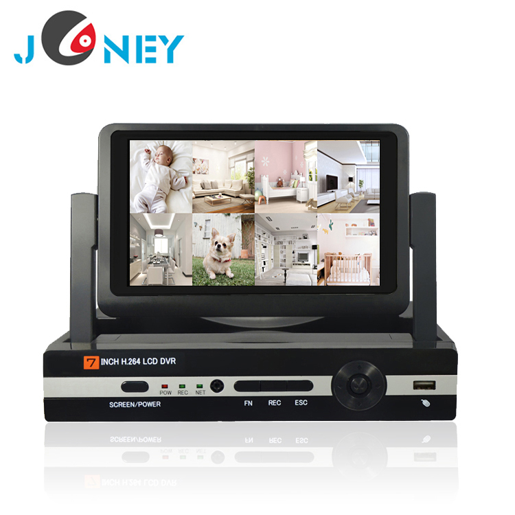 Alibaba hot sell all in one monitor 4ch AHD dvr for security camera system outdoor