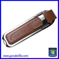 Free samples Leather usb flash drive logo printing