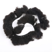 Tight Zigzag Afro Kinky Curly Extensions sewing to weft 6''-32'' Available Brazilian Virgin Hair Afro Kinky Curly