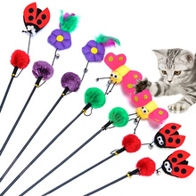 christmas cuddly funny fishing rod cat toys for sale