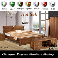 ECO FRIENDLY designs double teak solid wood bed with box